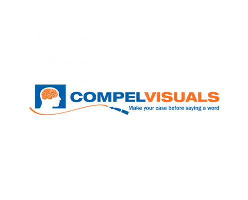 Compel Visuals logo design