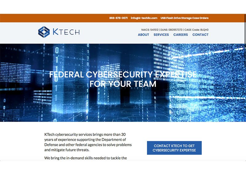 KTech Cyber home page