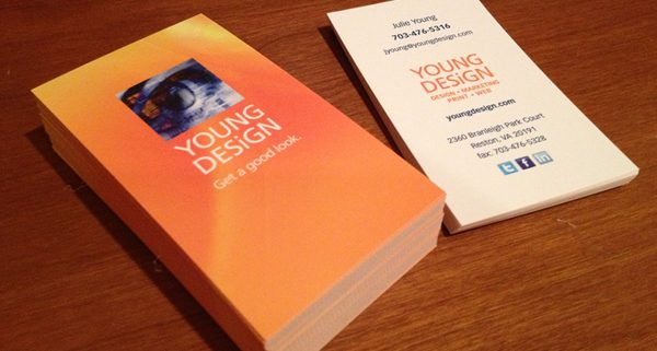Young Design business card design