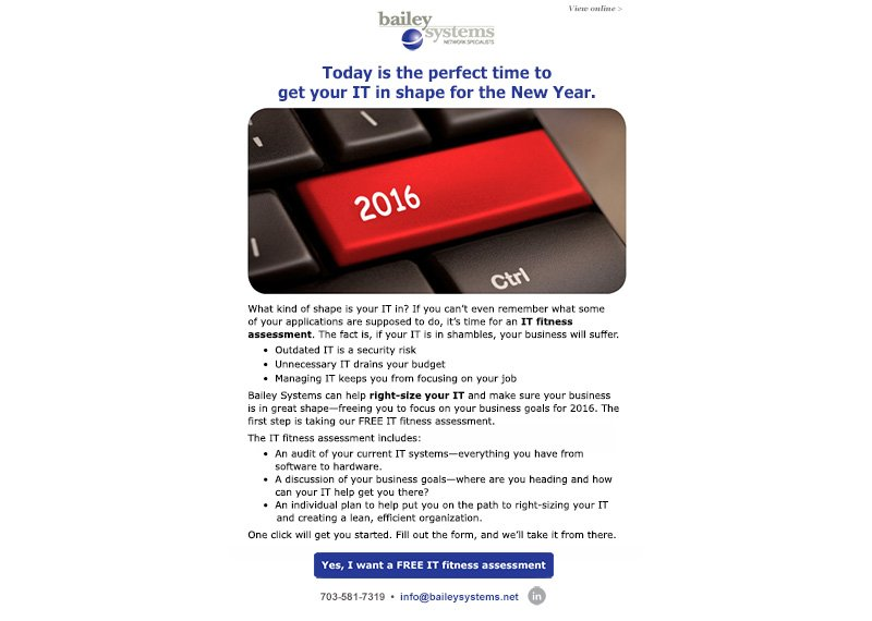 email campaign design