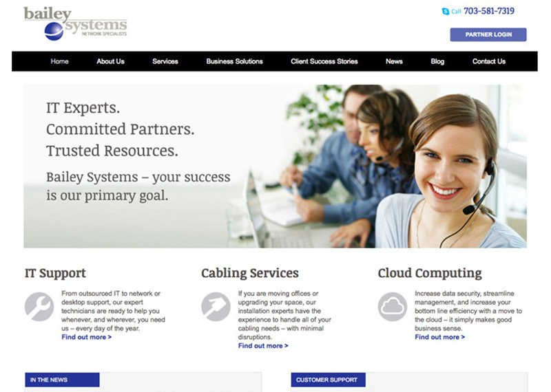 Bailey Systems web design and development