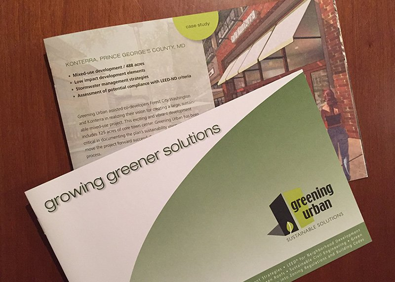 Greening Urban brochure design