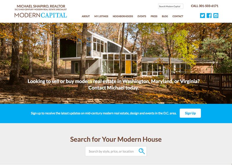 Modern Capital DC web design