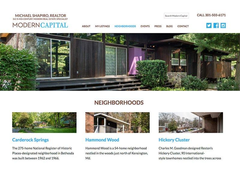 ModCap website design