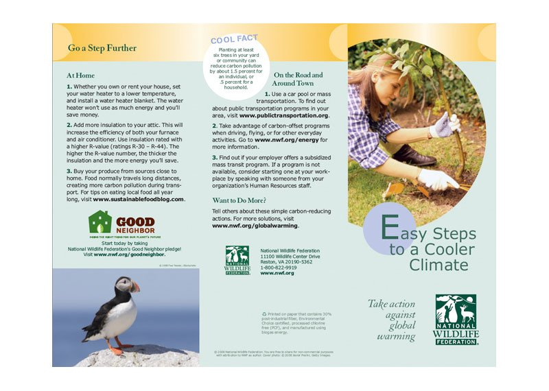 National Wildlife Federation Brochure - Young Design