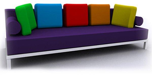 multi color sofa