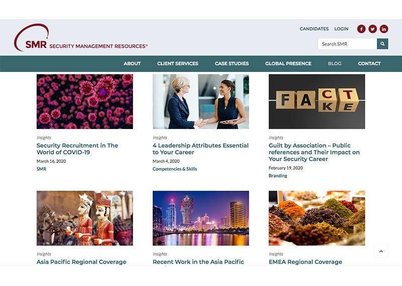 SMR web design blog page