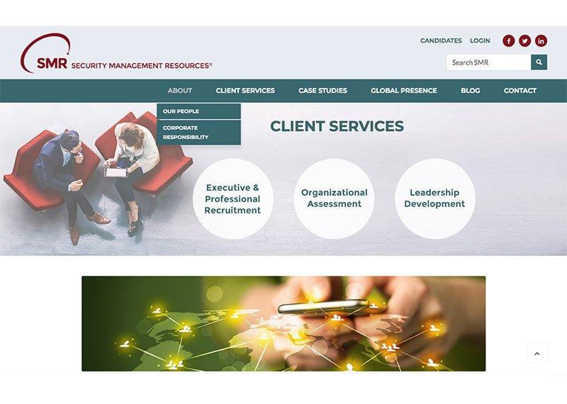 SMR web design home page