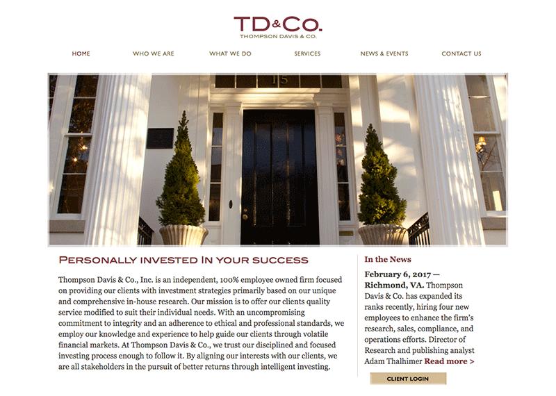 TD&Co website design