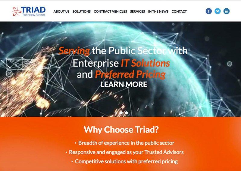 Triad Technology Partners website design