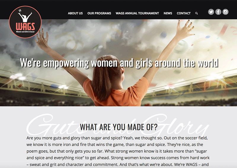 WAGS website design