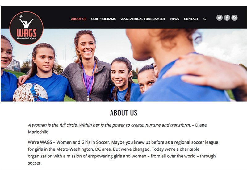 WAGS website