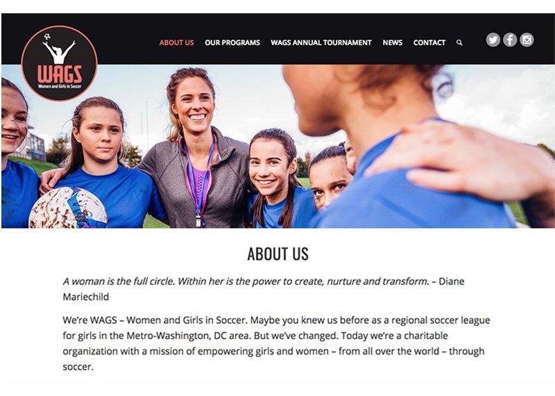 WAGS website design
