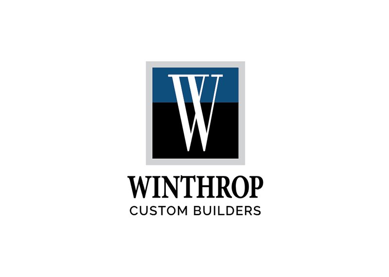 Winthrop Custom Builders logo design