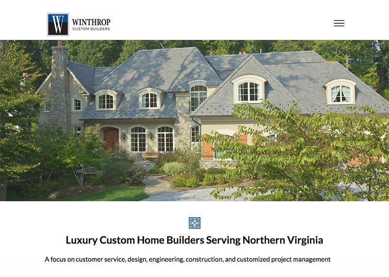 Winthrop Custom Builders web design