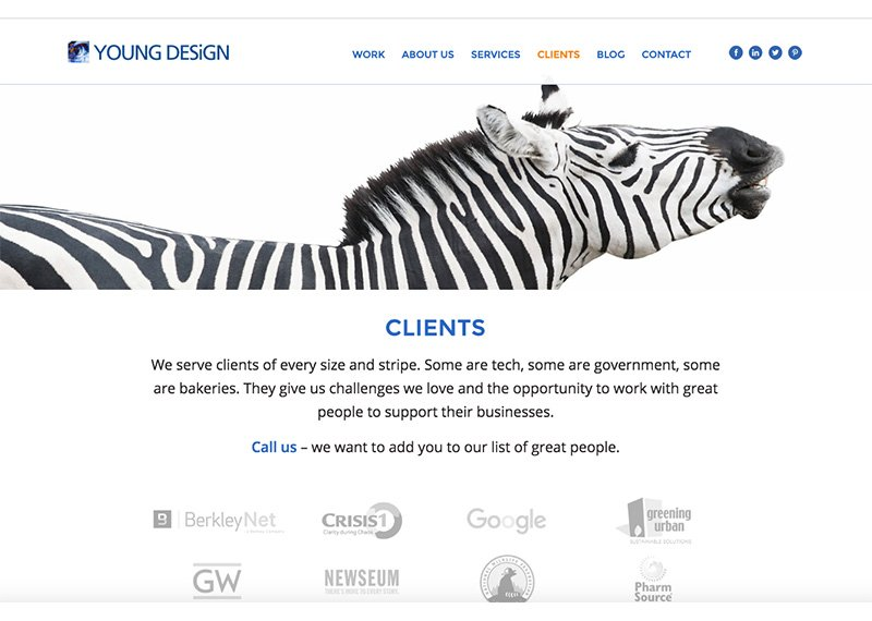 Young Design Clients page