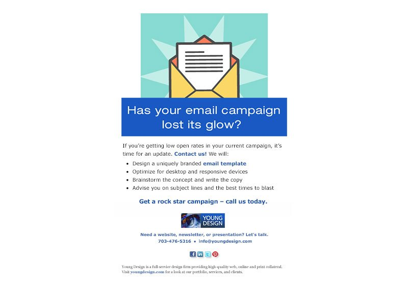 Email design campaign