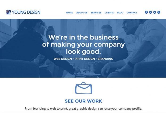 Young Design website