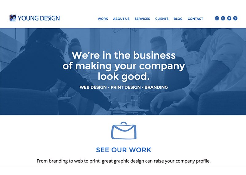 Young Design website